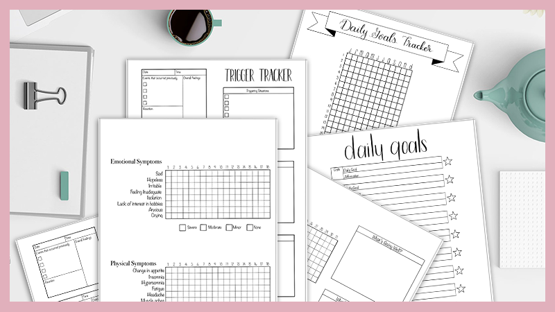 6 Free Mental Health Bullet Journal Printables