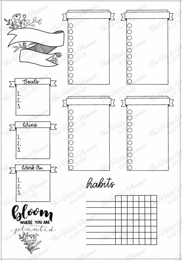 Printable Bullet Journal Weekly Layout Bundle