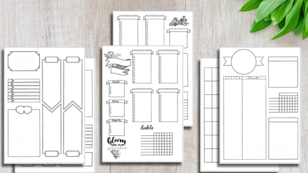 Printable Bullet Journal Weekly Layouts Bundle