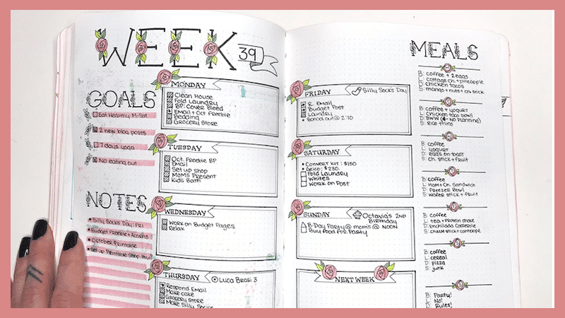 Finding Your Style with your Bullet Journal Weekly Layout