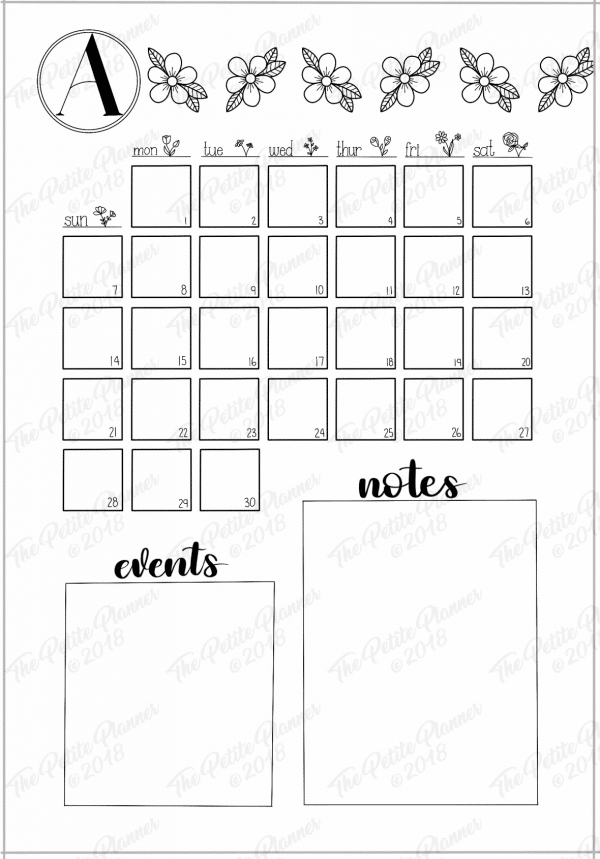 Printable April 2019 Bullet Journal