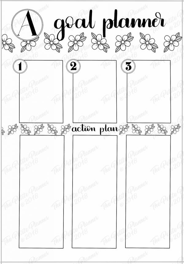 Printable Goal Setting Page
