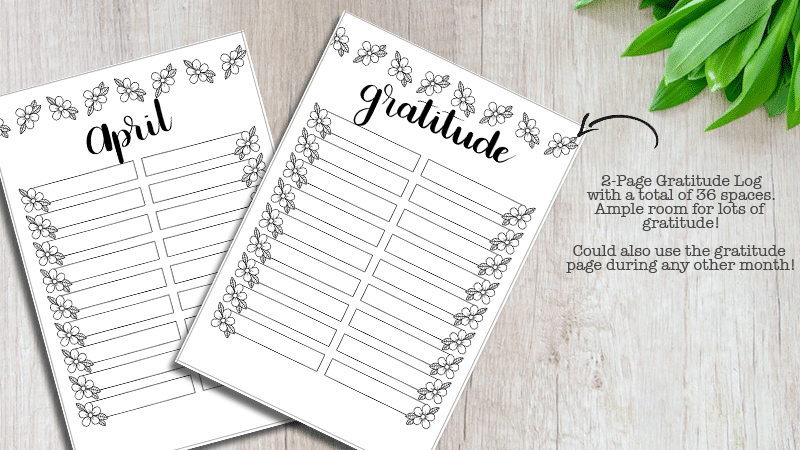 April 2019 Printable Bullet Journal Setup