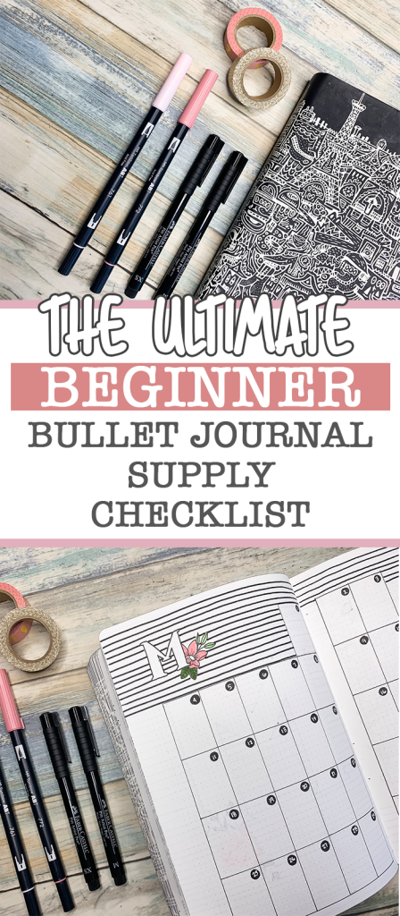 The ultimate beginner bullet journal supply checklist