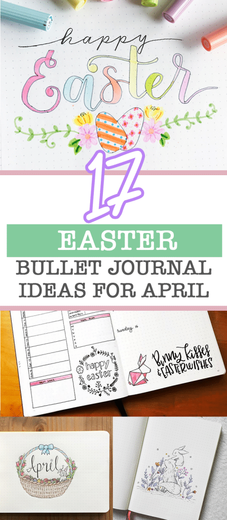 17 Pastel Easter Bullet Journal Ideas and Themes for April