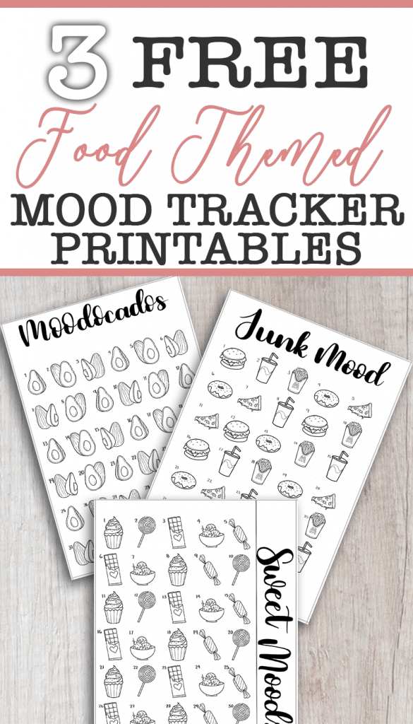 Snag these 3 Free Food Themed Mood Tracker Printables