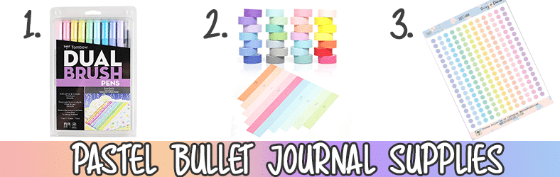 Pastel Easter Bullet Journal Ideas and Supplies