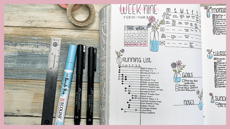 How to use a running to do list in your bullet journal