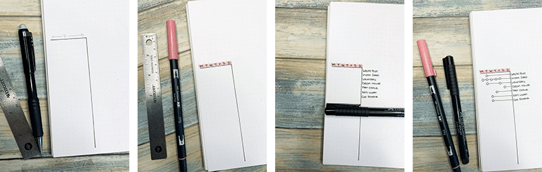How to make a running to do list in your bullet journal