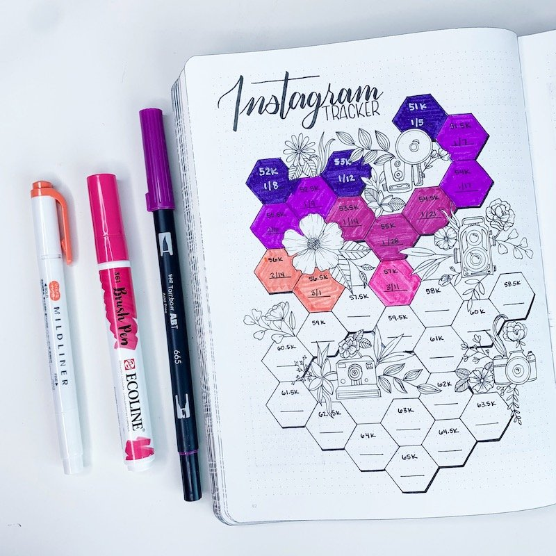 Instagram Tracker Bullet Journal