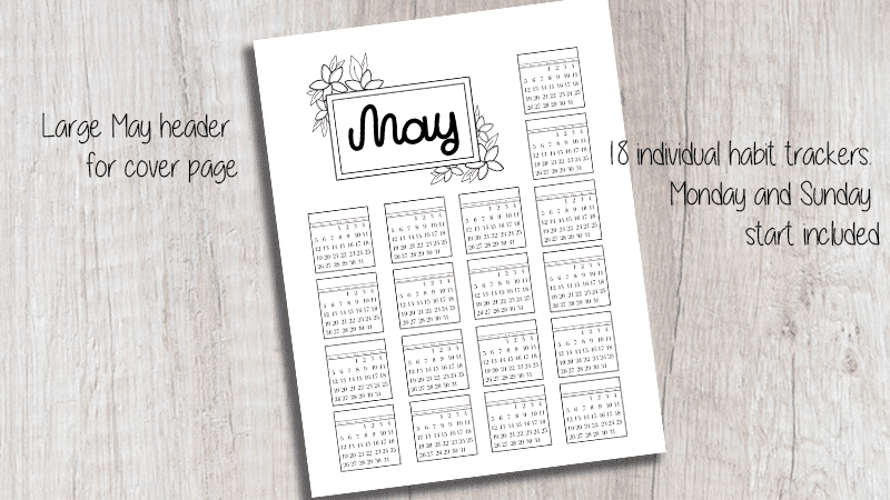 May Bullet Journal Printable Kit
