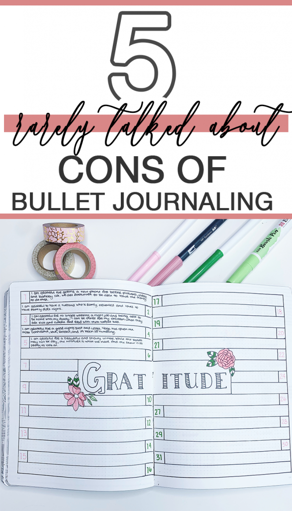 The rarely talked about cons of bullet journaling. Does the good outweigh the bad?