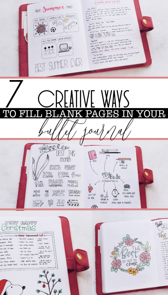 7 Creative Ways to Fill Blank Pages in Your Bullet Journal