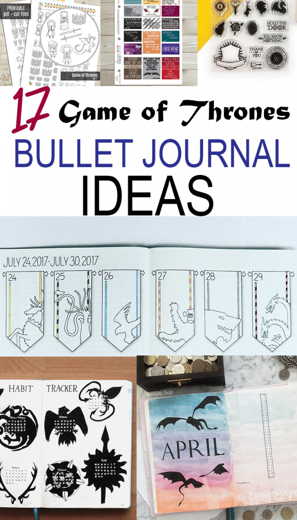 Game of Thrones Bullet Journal Ideas