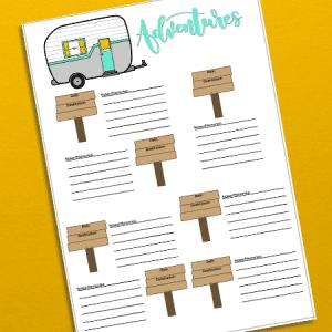 Adventure Log Bullet Journal Printable