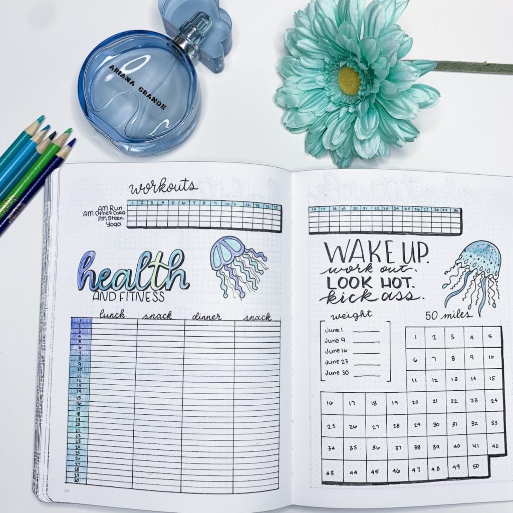 Bullet Journal Workout Trackers