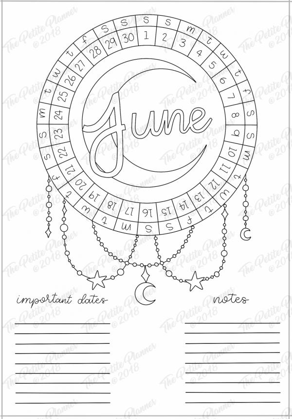 Printable Monthly Bullet Journal Setup