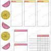 Lemonade Weekly Spread Printable for Bullet Journal