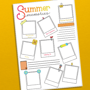 Printable Summer Memories Page for Bullet Journal