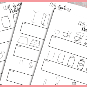 Free Printable doodle workbook with baking doodles for your bullet journal