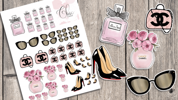 Chic Fashion Printable Planner Stickers