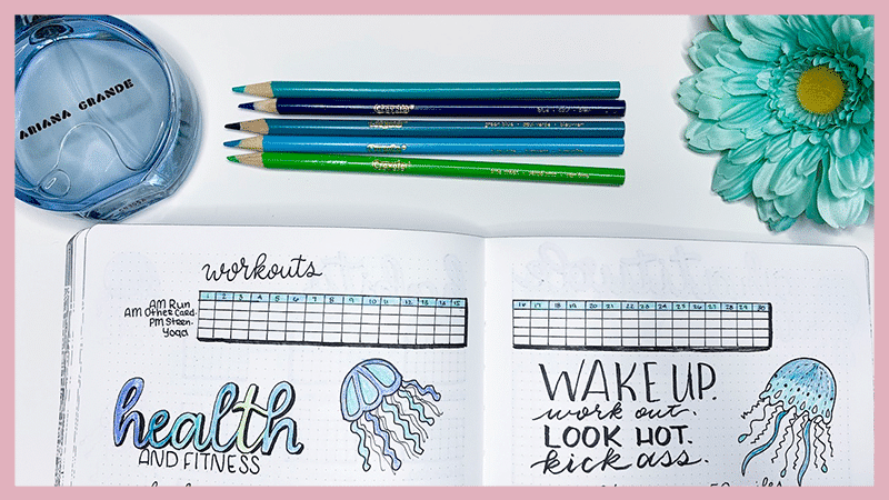 Motivational Exercise Trackers for Your Bullet Journal