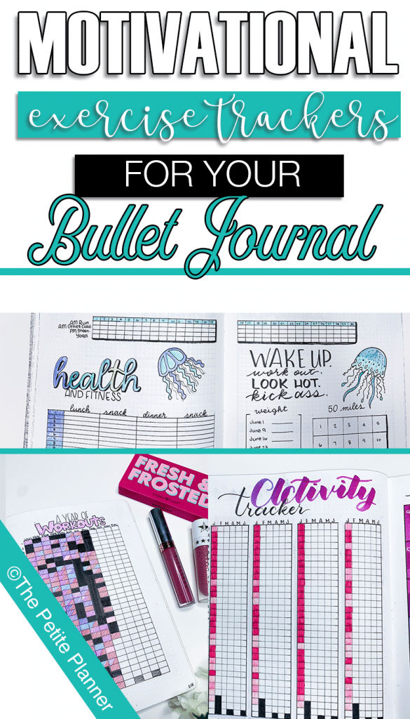 Exercise Trackers and Fitness Spreads for Your Bullet Journal. Printables Available