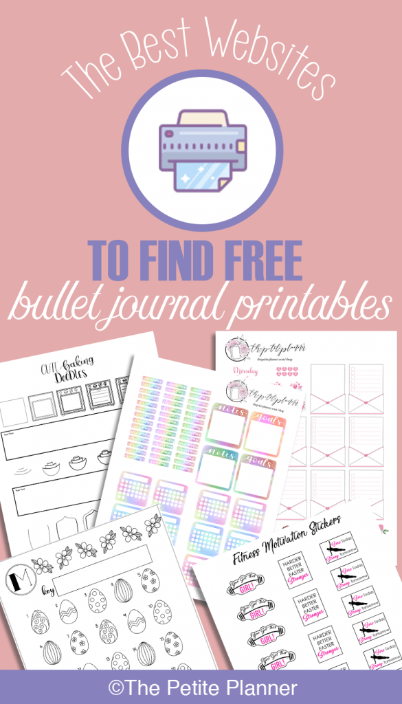 The best websites to find free bullet journal printables. No more scouring through Pinterest.