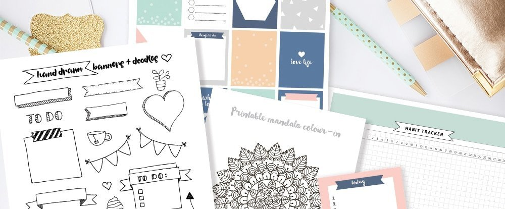 The Best Places to Find Free Bullet Journal Printables
