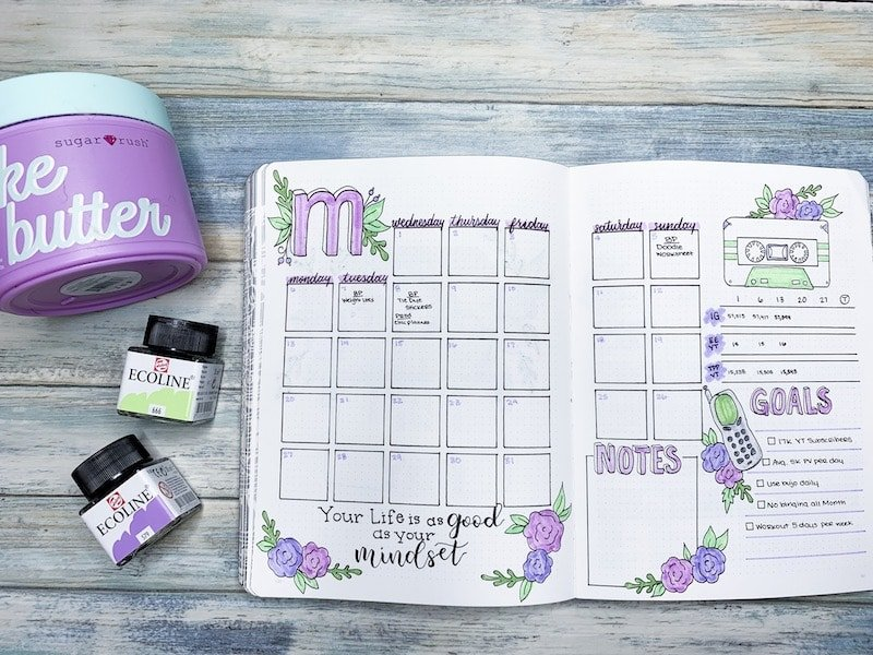 May 2019 Bullet Journal Monthly Setup