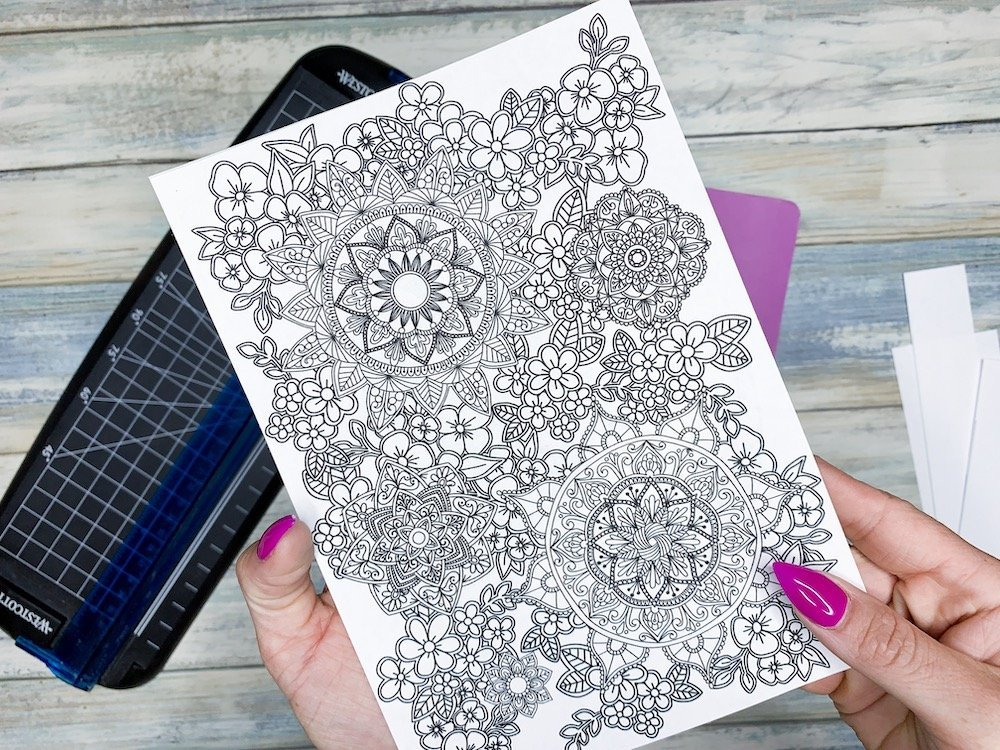 Free Mindful Coloring Pages with Mandalas and Florals