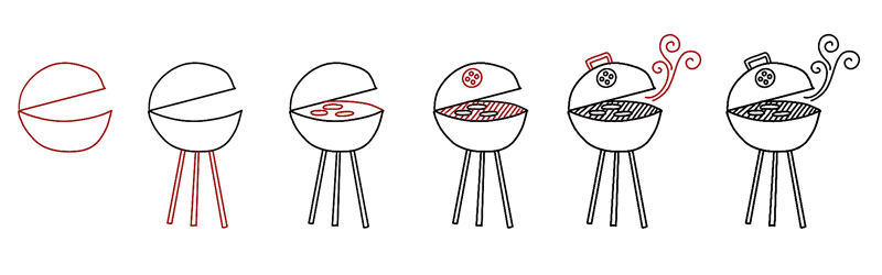 How to Doodle a Barbecue for Summer