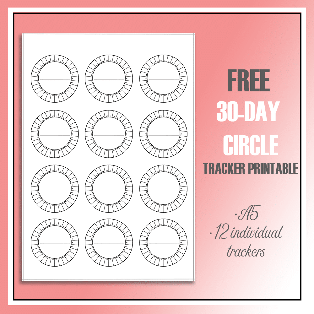 Free 30-Day Circle Habit Trackers for your bullet journal