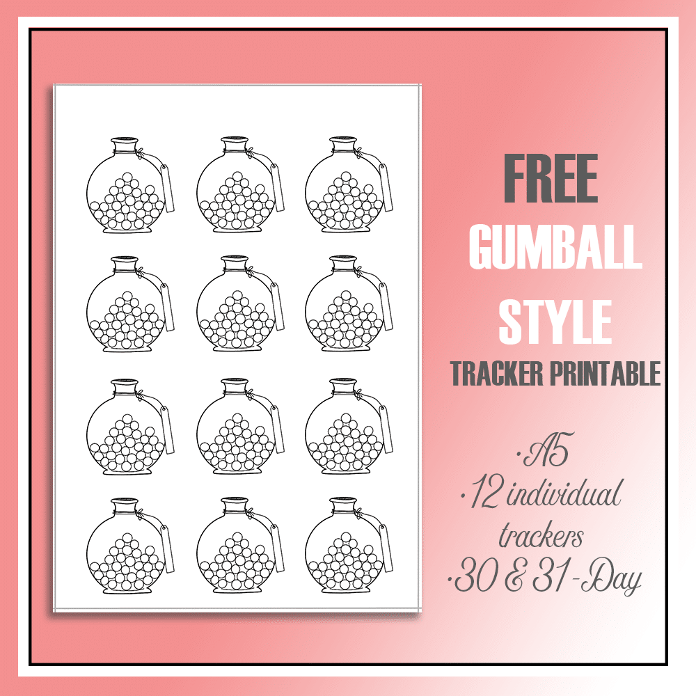 Cute Mini Habit Trackers Free Printable for your bullet journal or day planner
