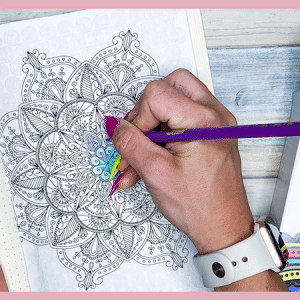Free Printable Mindful Coloring Pages for your bullet journal
