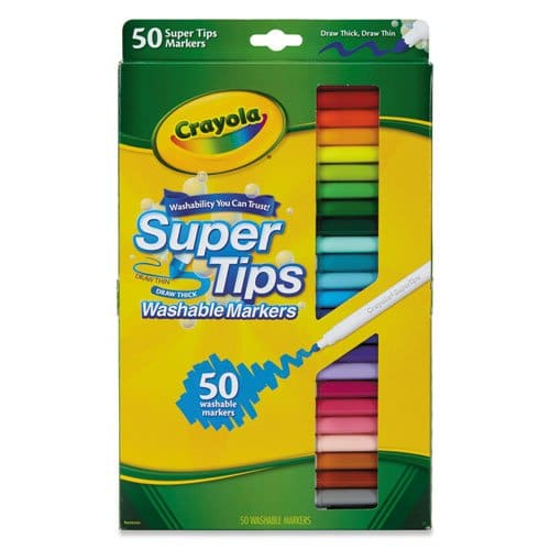 Crayola Supertips 50 Pack