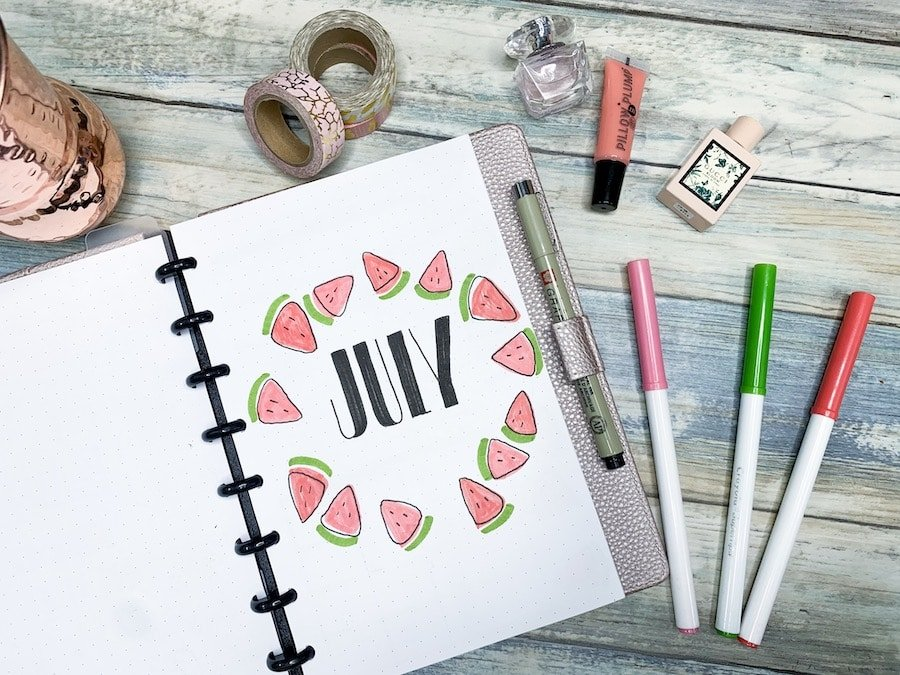 Learn how to doodle in your bullet journal with the easiest technique ever