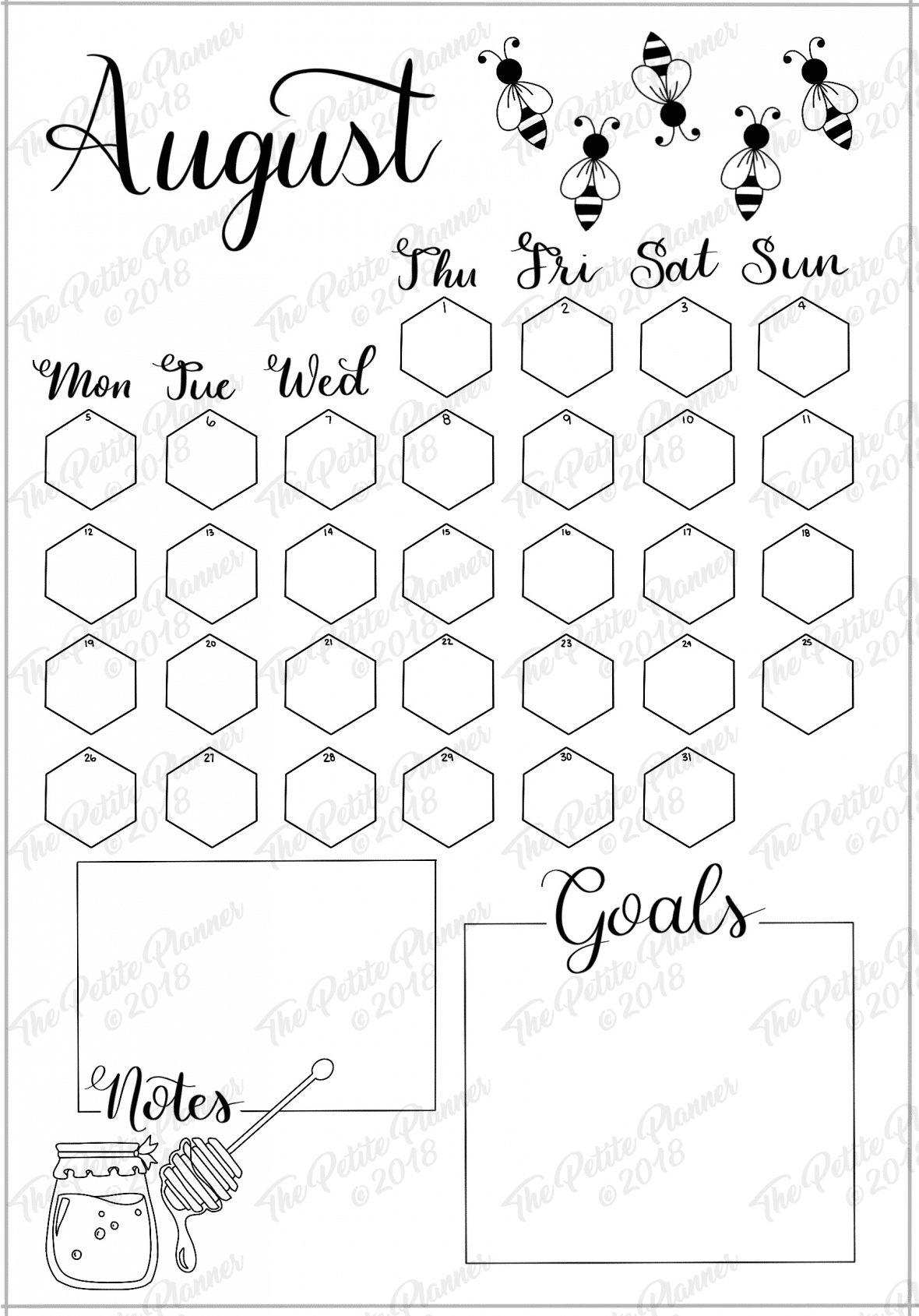image regarding Bullet Journal Calendar Printable referred to as August 2019 Printable Bullet Magazine Set up