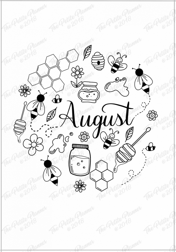 August 2019 Printable Bullet Journal Setup