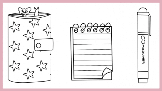 Stationery Doodles for Your Bullet Journal