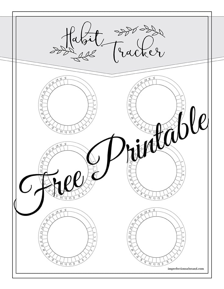 Free Habit Tracker Printable Page