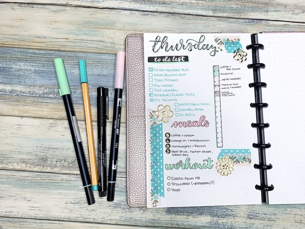 Using Daily Logs to Stick to a Bullet Journal Routine