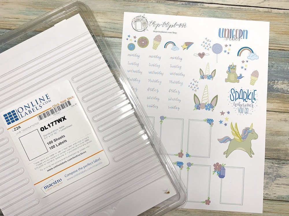How to make printable stickers for your planner or bullet journal