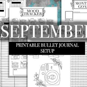 September 2019 Bullet Journal Printable Kit