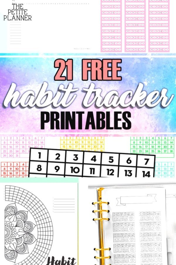 List of free printable habit trackers