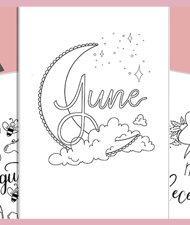 12 Months of Free Cover Page Printables