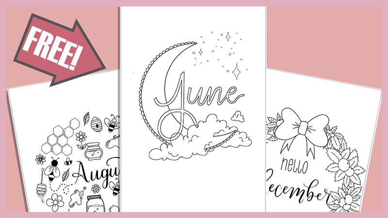 Free Printable Cover Pages for Your Bullet Journal