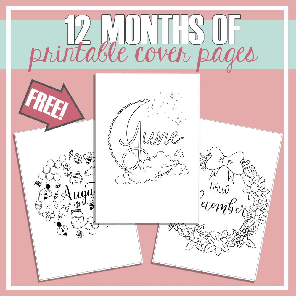 Free Printable Cover Pages for Every Month of the Year