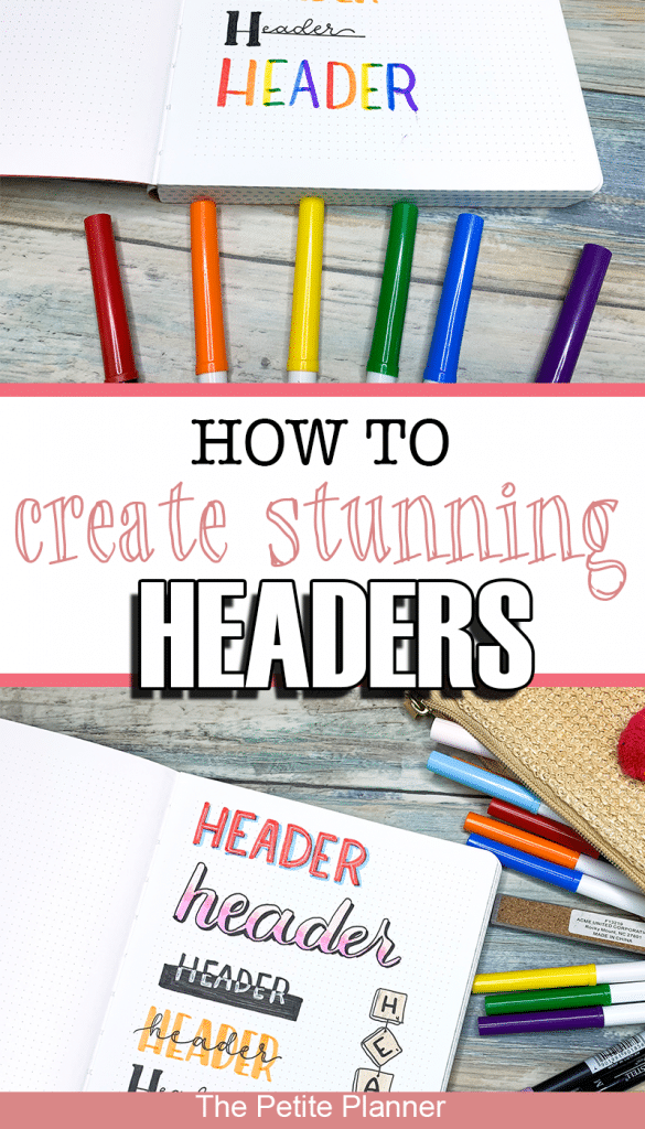 How to Create Stunning Bullet Journal Headers