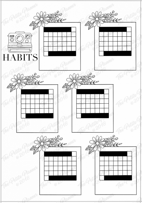 Mini Habit Tracker Printables
